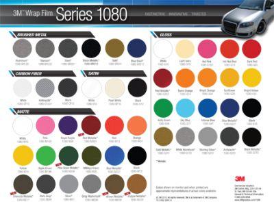 3M Wrap Film Series 1080 está com cinco novas cores