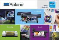Roland DG demonstra gama de produtos de impressão e corte e soluções UV-LED na FESPA Alemanha