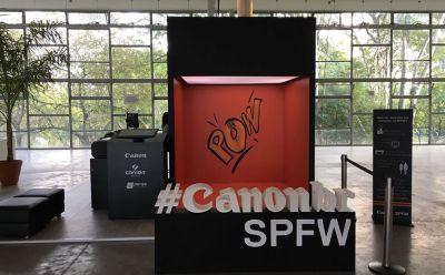Canon do Brasil imprime mais de duas mil fotos na SPFW 2018