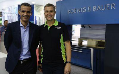 Koenig & Bauer e hubergroup cooperarão em tintas offset planas convencionais