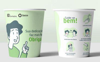 Ibema e BO Packaging se unem para distribuir um milhão de copos de papel para hospitais