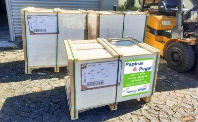 Papirus doa uma tonelada de papel para impressão de livros do projeto Pegaí Leitura Grátis